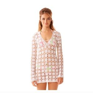 Lilly Pulitzer Wayland Crochet Cover Up Tunic